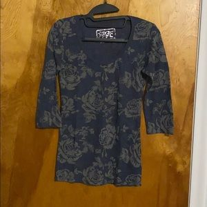 3/4 Sleeve Floral Thermal Tee